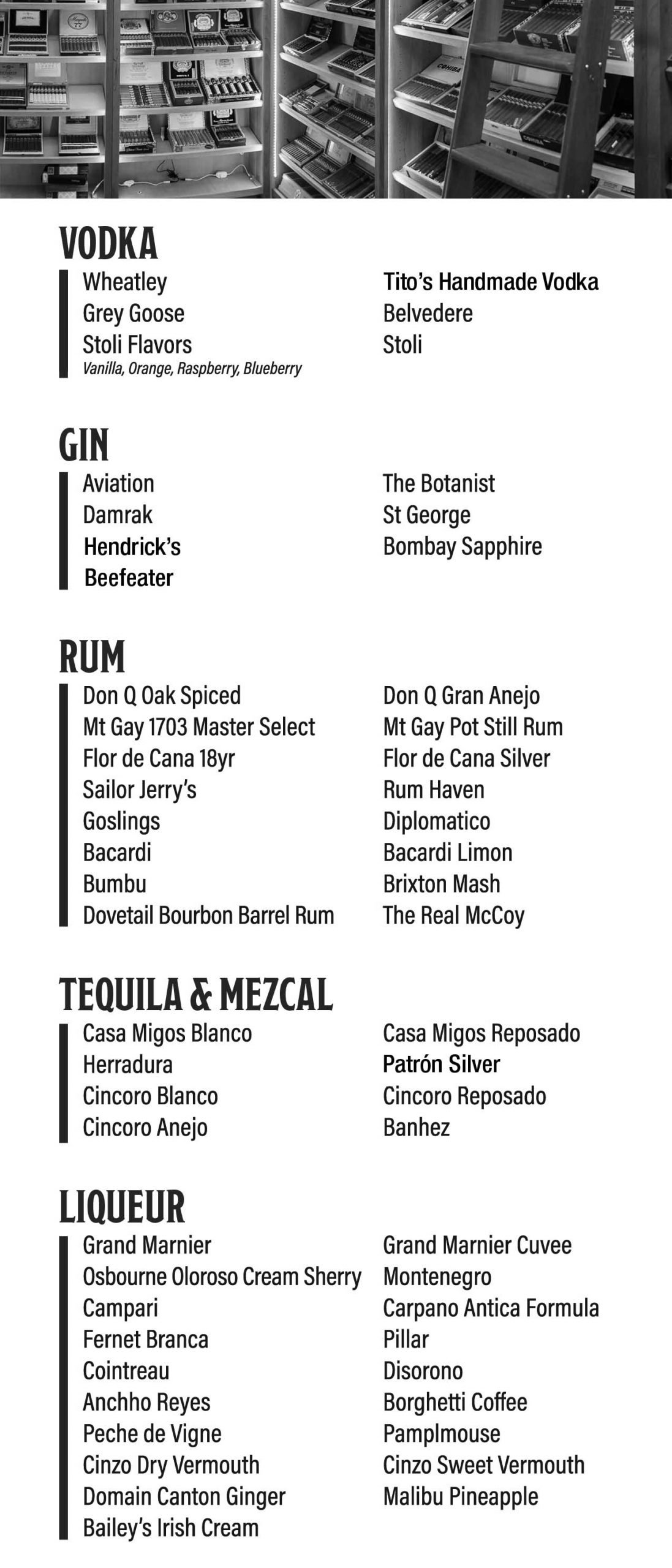 drink menu 1 bar
