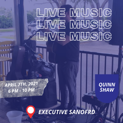 Live Music With Quinn Shaw – Executive Cigar Shop & Lounge, Sanford