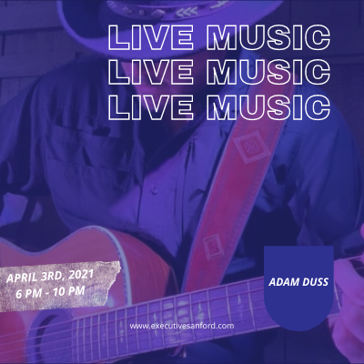 Live Music With Adam Duss – Executive Cigar Shop & Lounge, Sanford