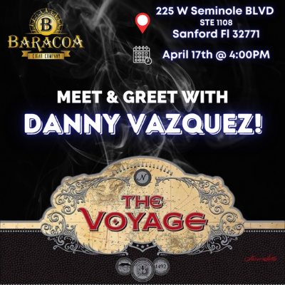 The Voyage Event With Danny Vasquez – Executive Cigar Shop & Lounge, Sanford