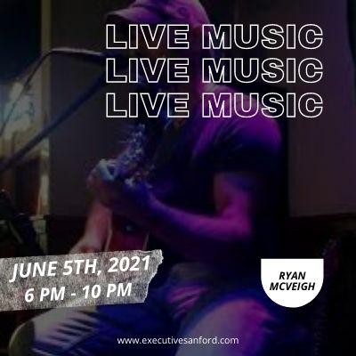Live music with Ryan Mcveigh – Executive Cigar Shop & Lounge, Sanford