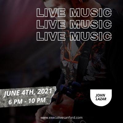 Live music with John Lazar – Executive Cigar Shop & Lounge, Sanford